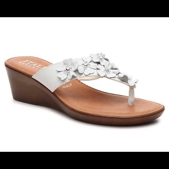 ba210200a64c Italian Shoemakers Shoes - ITALIAN SHOEMAKERS white GISSELLE WEDGE SANDAL
